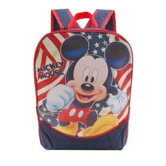 Mickey Mouse กระเป๋าเป้ กระเป๋านักเรียน สะพายหลัง (สีกรม)