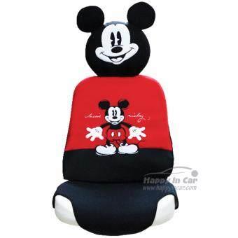 Mickey Mouse ที่หุ้มเบาะรถยนต์ + ที่หุ้มหัวเบาะ Classic Mickey