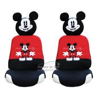 Mickey Mouse ที่หุ้มเบาะรถยนต์ + ที่หุ้มหัวเบาะ Classic Mickey (คู่หน้า)