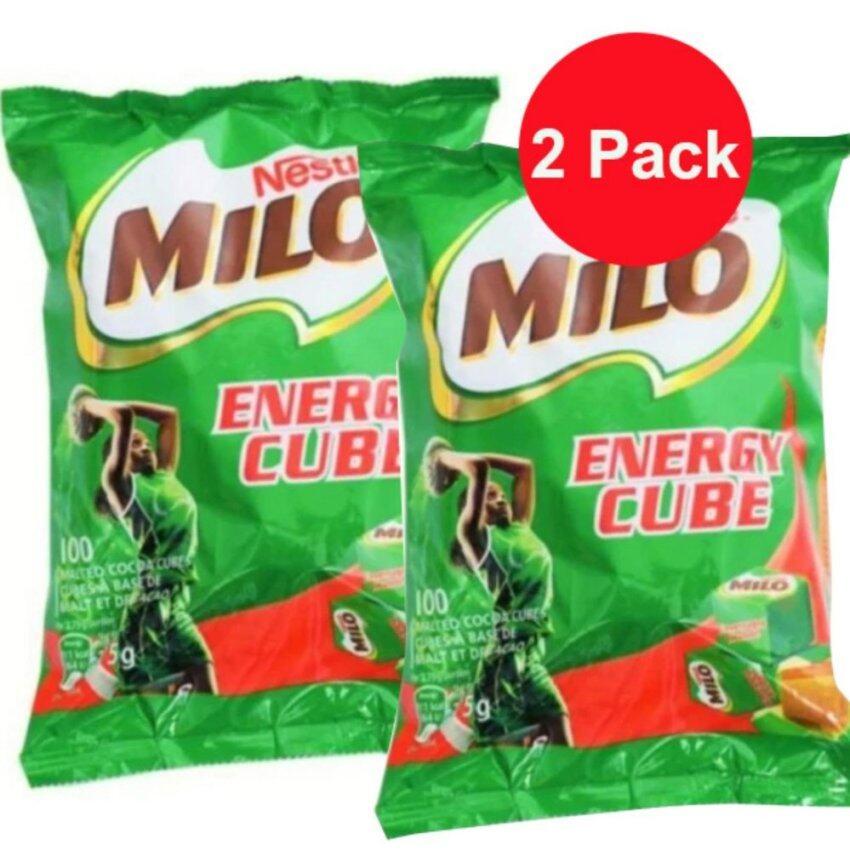 Milo Energy cube ขนมเคี้ยวเพลินX 2 ถุง (200 ก้อน) ...