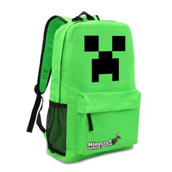 Minecraft backpack Zipper Travel Bags Book Bag School Students Pack Bag(Green) - Intl