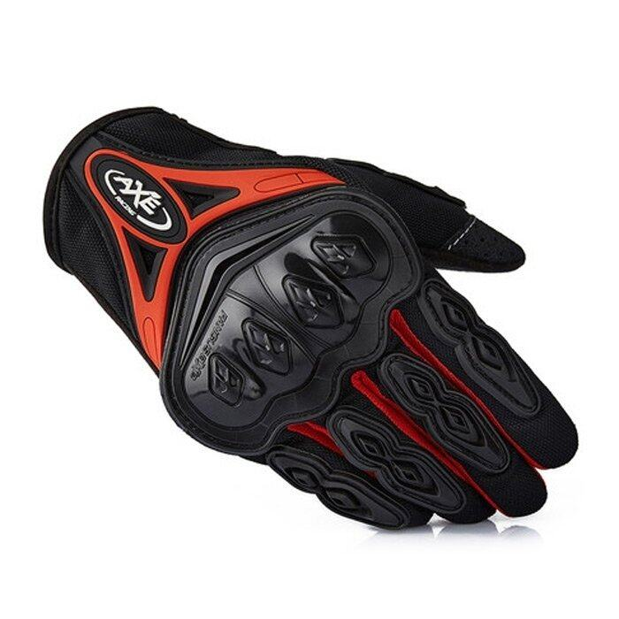 MiniCar AXE ST-07 Motorcycle Cross-Country Racing Bicycle Riding Protective Gloves Touch Screen Gloves Red size:L(Color:Red) - intl