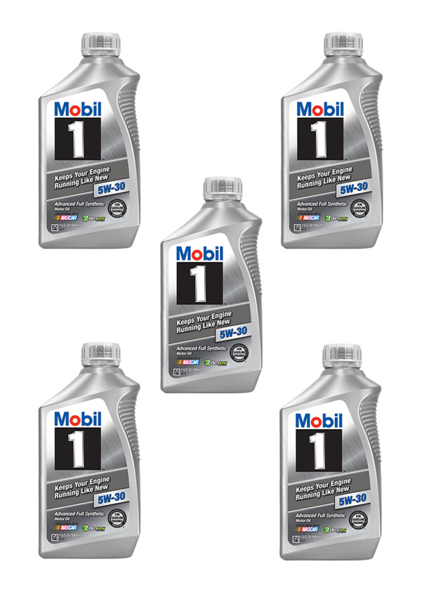 Mobil 1™ 5W-30 advanced full synthetic motor oil Made in USA สังเคราะห์แท้100% ...