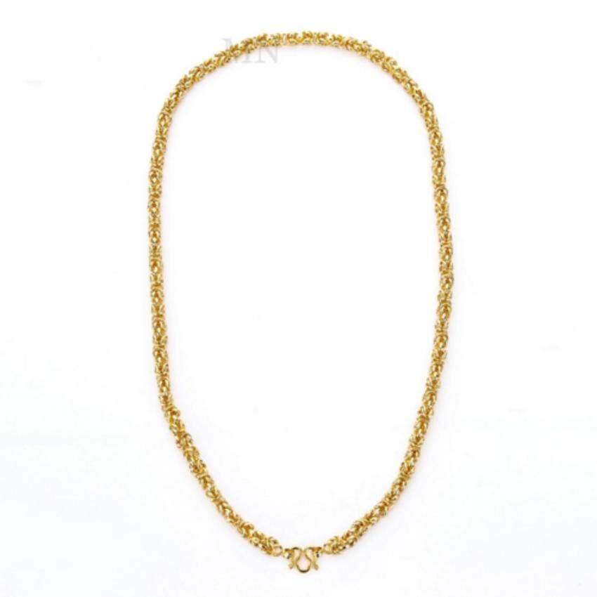 MONO Jewelry สร้อยคอทองคำลายมีนา งานทองไมครอน ชุบเศษทองคำแท้ รุ่น น้ำหนัก ๒ บาท ...