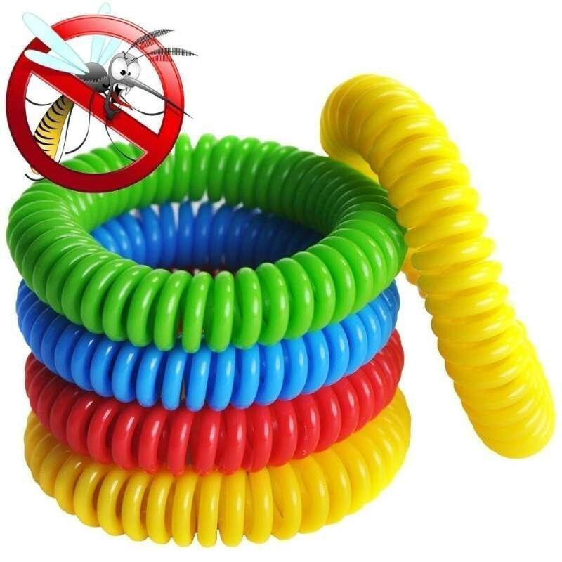 Mosquito Repellent Bracelets - 1 Pack - All Natural, Deet Free and Waterproof Bands for Adults and Children--Natural Wristbands - 250Hrs of Protection Against Mosquitoes and Insects - intl