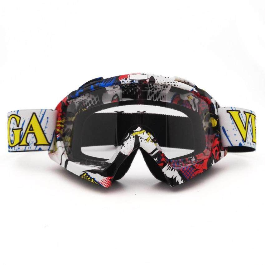 Motocross Goggles Cross Country Ski Snowboard ATV Mask Oculos Gafas Motocross Motorcycle Helmet MX Goggle Spectacles (QL037+Clear) - intl