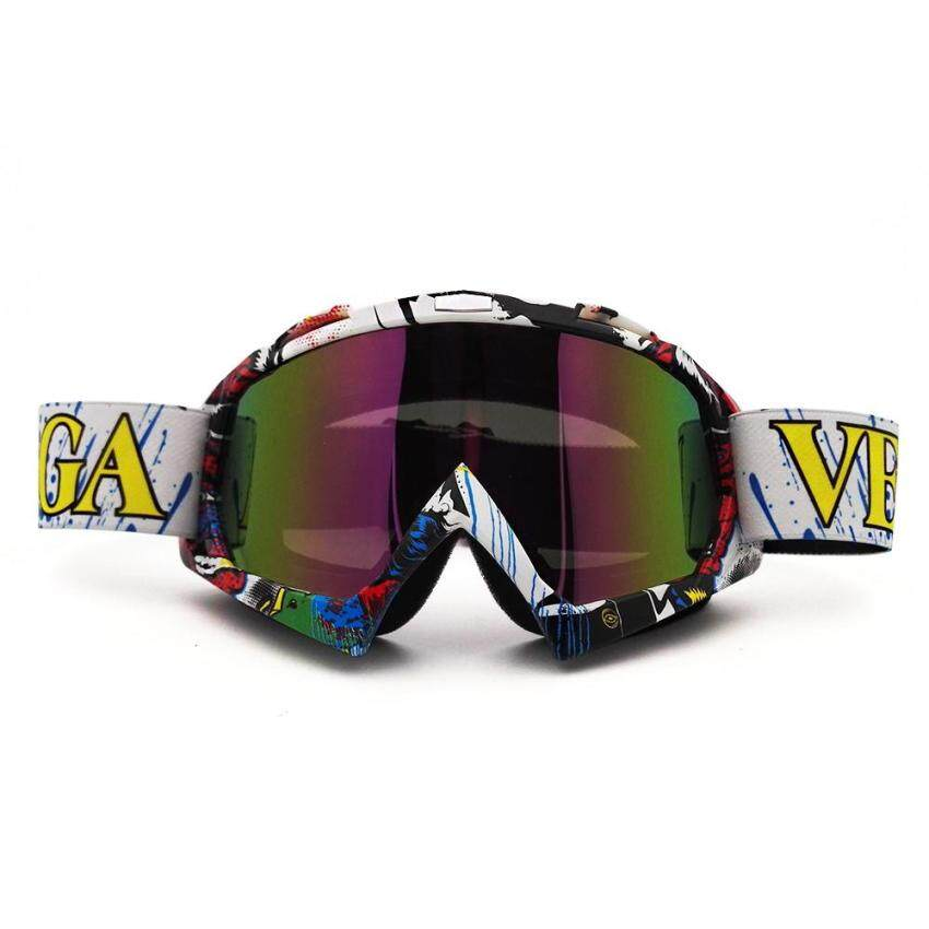 Motocross Goggles Cross Country Ski Snowboard ATV Mask Oculos Gafas Motocross Motorcycle Helmet MX Goggle Spectacles (QL037 +Multicolor) - intl