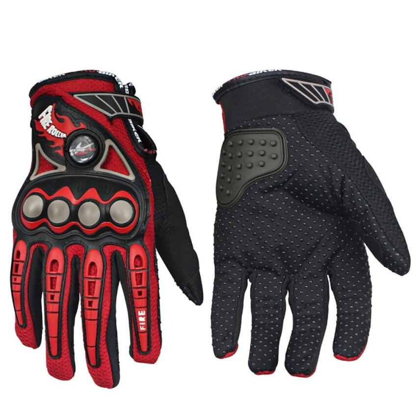 Motorcycle anti-skid gloves professional racing gloves(Red/M) - intl