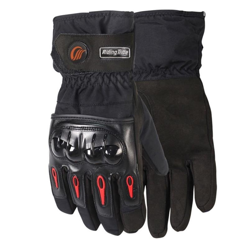 Motorcycle Gloves Winter Waterproof cold warm ski gloves anti-fall locomotive gloves - intl