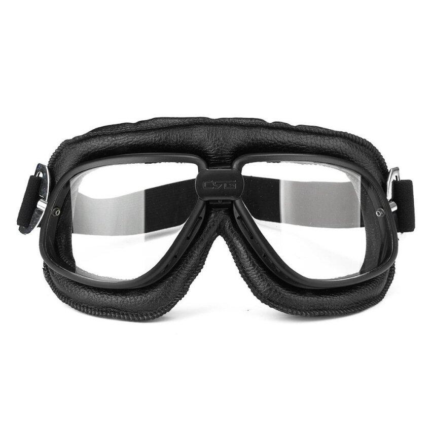 Motorcycle Goggles Scooter ATV Helmet Glasses Anti-UV Eye Wear Protector Clear - intl