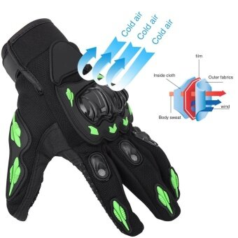 Motorcycle Motorbike Motocross Cycling Breathable Gloves FullFinger Guard Protective Armor M - intl