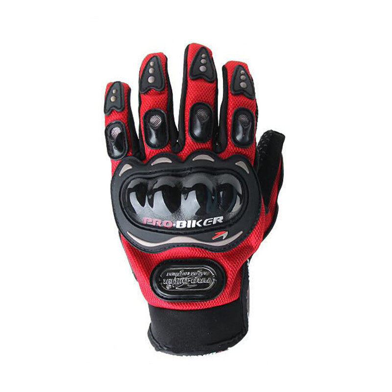 Motorcycle Protective Mittens Gloves (Red)