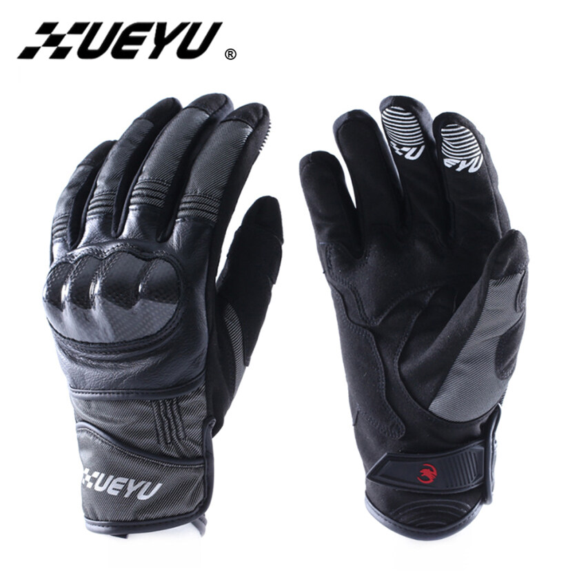 Motorcycle Racing Gloves Enduro Road Moto Riding Carbon Fiber Shell Motorbike Street Sports Bike Full Finger Luvas - Intl