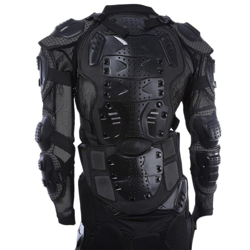Motorcycle Riding Hockey Clothing Armor Protection Jacket Abrasive Resistance Breathable Material XL Size (XL) (Black) - intl