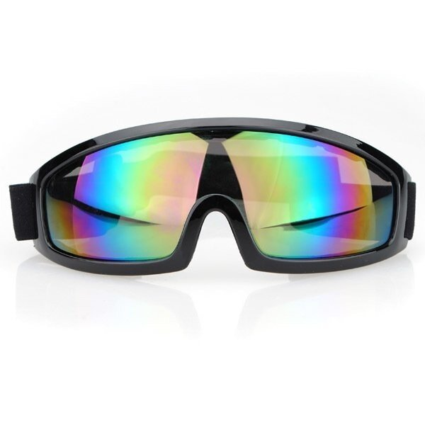 Motorcycle Scooter Goggle Glasses Pilot Style Black Frame Windproof Goggles Bike - intl