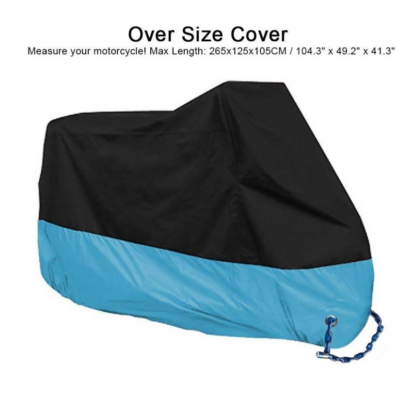 Motorcycle Waterproof Cover Sun Shade Protective Motorbike Case Rain Protection 190T polyester XXXL Blue - intl