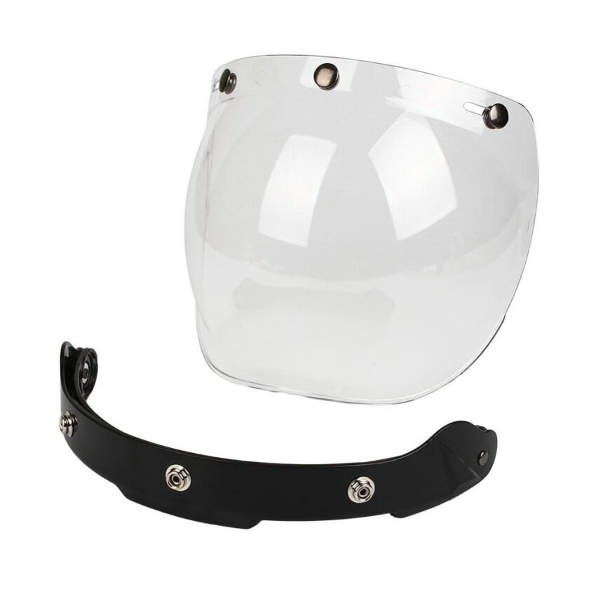 Motorcycle Windshield Helmet Harley Style Jet Bubble Visor UV 400 Protection - intl