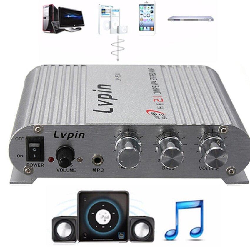 Motors Amplifiers Mini Hi-Fi Stereo Amplifier 200W 12V Super Bassbooster Radio Mp3 Fm Ipod Car Home - intl