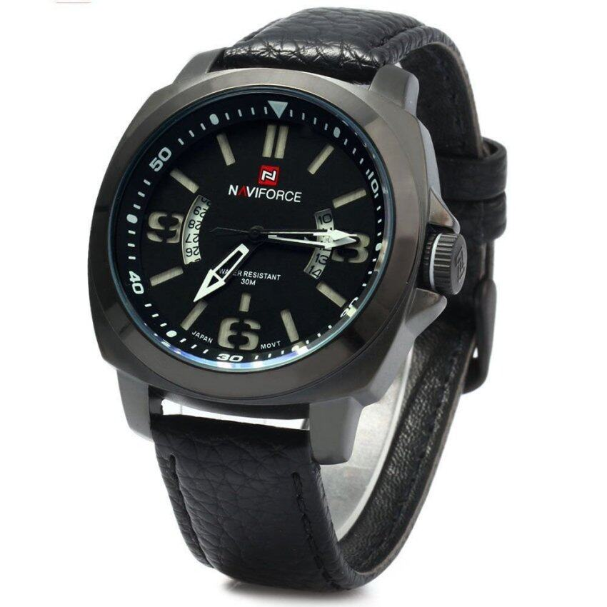 NAVIFORCE 9062 Men Quartz Watch 30M Water Resistant Luminous White (Intl)