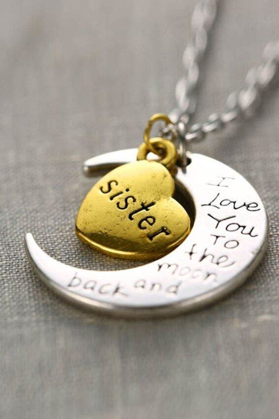 Necklace Charm Pendant I LOVE YOU  Sister - intl