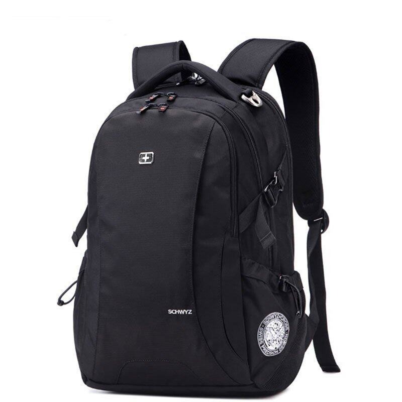 "ขาย New Brand SWISSGEAR Waterproof 17"" Laptop SWISS Men and Women Backpack Computer Notebook Bag Black - Intl"