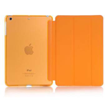 New iPad 2017 iPad 9.7 inch / Ipad Air (ipad 5) case, Welink Ultra Slim Smart Cover PU Leather Case for Ipad Air (ipad 5) / New iPad 2017 iPad 9.7 inch (Orange)