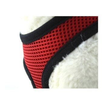 new Y103RedM red Pet cat Dog Dog Puppy SoftV Adjustable Harness Braces Clothes Vest Leash Mesh Breathe - intl