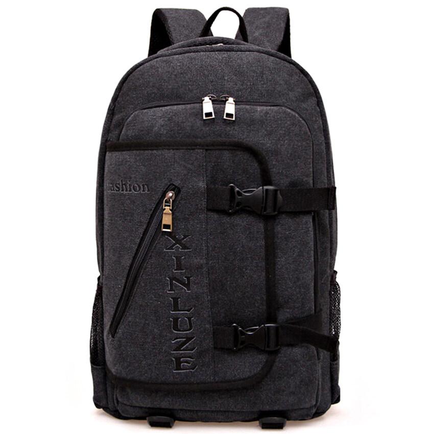 ขาย Nifty Well กระเป๋าเป้สะพายหลัง Backpack กระเป๋าเดินทาง ขนาดกลาง ผ้าแคนวาส ( สีดำ )
