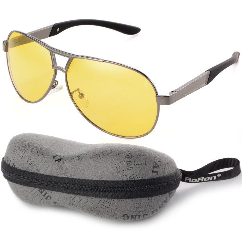 สุดยอดสินค้าNight Vision Polarized Men's Sunglasses Outdoor Driving GlassesYellow Lens+Grey Frame OS398-SZ ราคาย่อมเยา