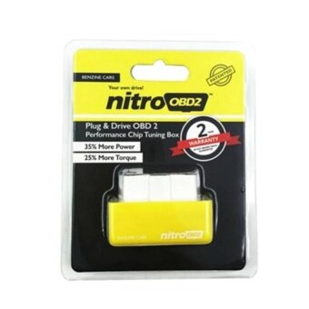 Nitro OBD2 For Petrol Car Chip Performance Tuning Plug & Play Auto ECU Remap (Benzine Cars) - intl