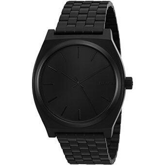 Nixon Mens A045-001 Minimal The Time Teller Black Stainless Steel Watch