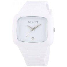 Nixon Mens A139-100 Rubber Analog White Dial Watch - intl