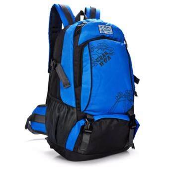 NL01BU สีน้ำเงิน กระเป๋าเดินทาง กระเป๋าสะพายหลัง กระเป๋าเป้เดินทาง กระเป๋าเป้ผู้ชาย กระเป๋าเป้เท่ๆ กระเป๋าสัมภาระ กระเป๋าไนลอนกันน้ำ backpack