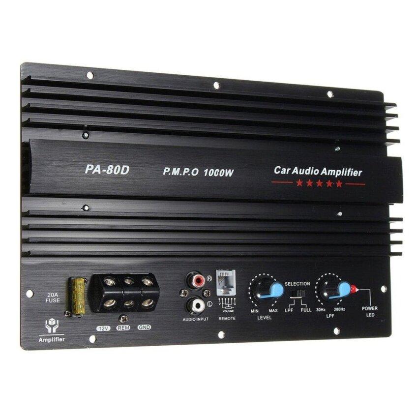 OH 12V 1000W Amplifier Board Audio Power Amplifier Powerful Bass Subwoofers PA-80D Black - intl