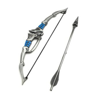 Overwatch Hero Hanzo 15cm Weapon Model Alloy Bows Toy Pendant CarAccessories Souvenir Gift - intl