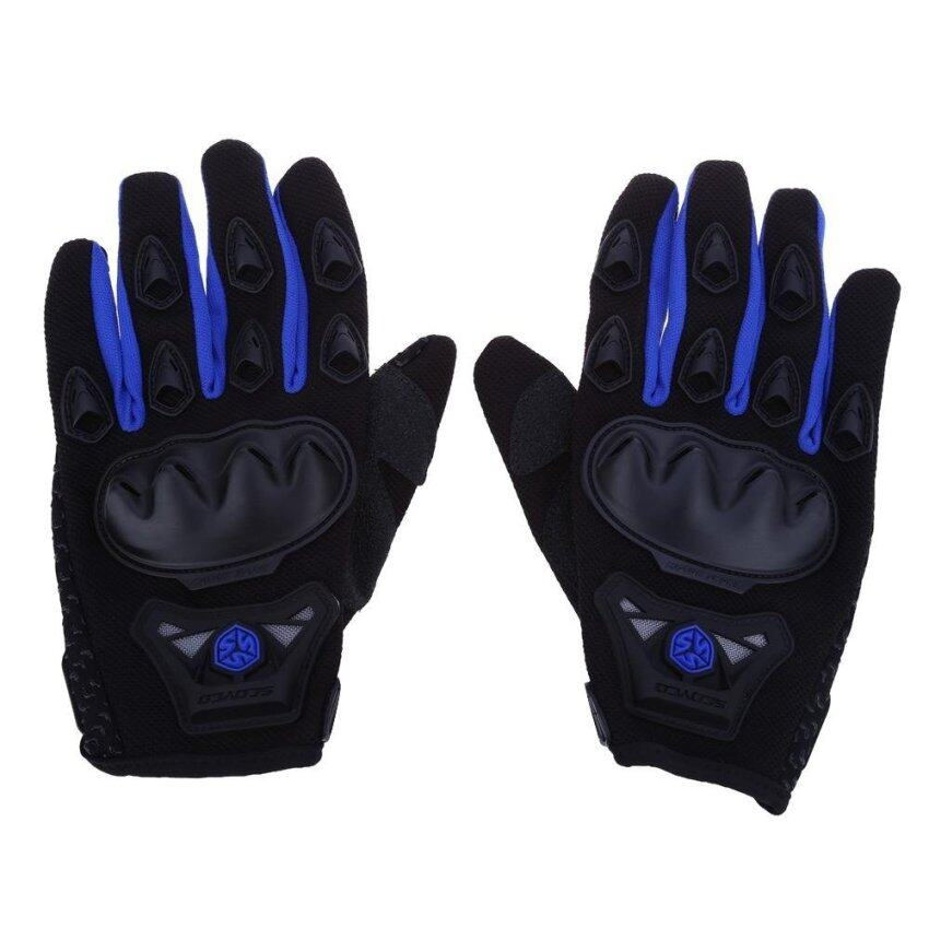 Paired Full Finger Motorcycle Gloves Motorbike Motocross Breathable Protective Gears(BLUE)(Size:M?)(...) - intl
