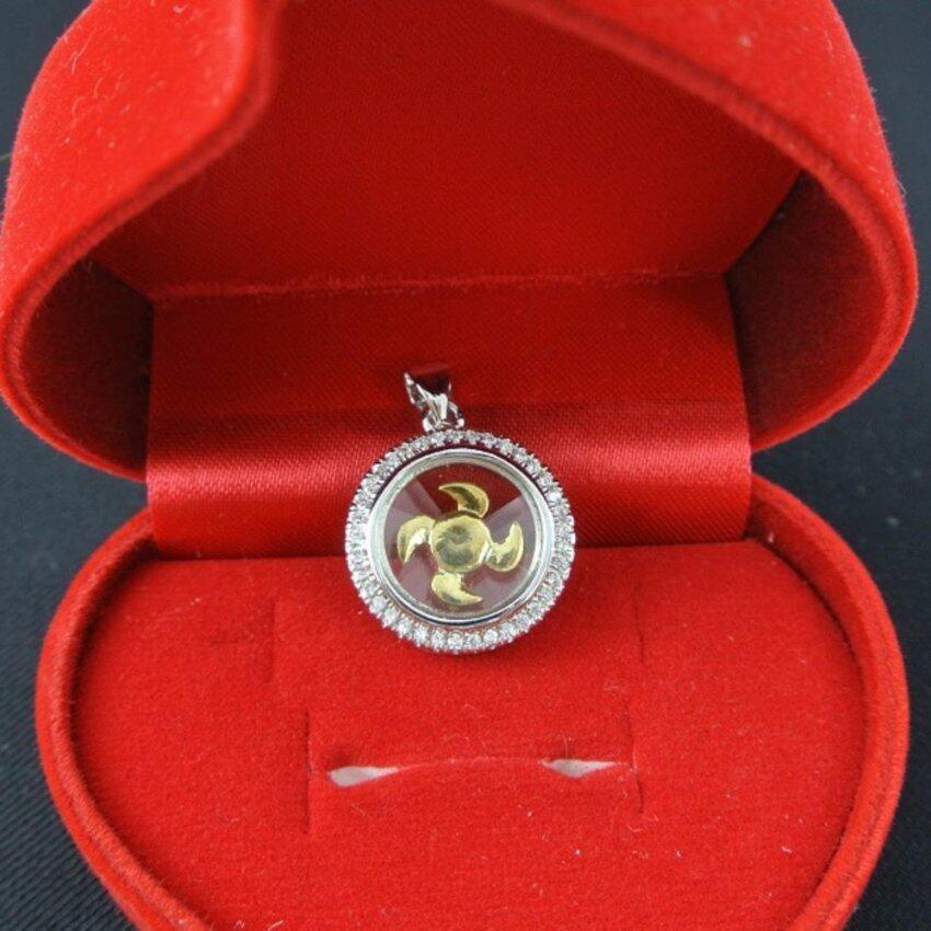 Pearl Jewelry จี้กังหัน นำโชค เพชรสวิส พร้อมสร้อยคอ LC209 ...