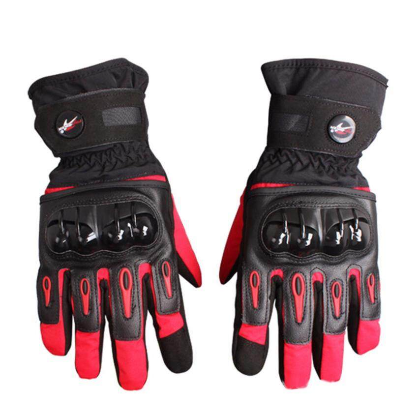 Pro-biker Motorcycle Racing Winter Bicycle Warm Gloves(Red)-M
