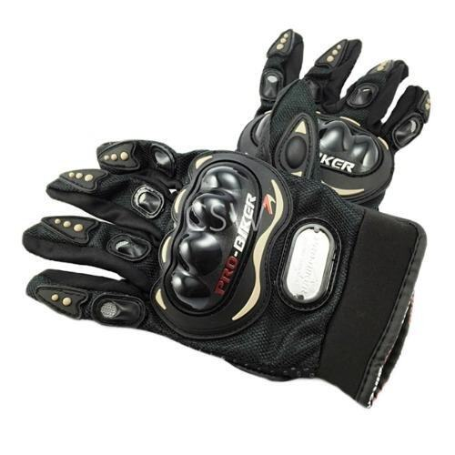 Pro Biker ถุงมือมอเตอร์ไซค์ สนับแข็ง เต็มนิ้ว สีดำ ไซส์ XL จำนวน 1 คู่