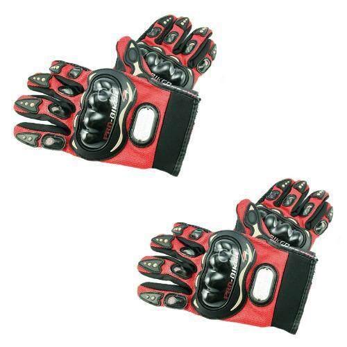 Pro Biker ถุงมือมอเตอร์ไซค์ สนับแข็ง เต็มนิ้ว สีแดง ไซส์ XL จำนวน 2 คู่