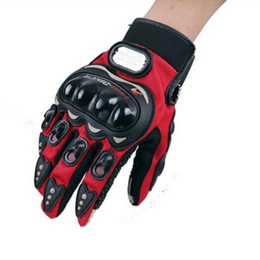 QQ Riding gloves motorcycle gloves outdoor sports electric car racing gloves Red(Size:M) - intl