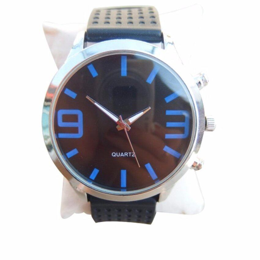 QUARTZ นาฬิกาข้อมือ นาฬิกาข้อมือแฟชั่น นาฬิกาผู้ชาย ผู้หญิง วัยรุ่น ทันสมัย ราคาถูก [Blu ...