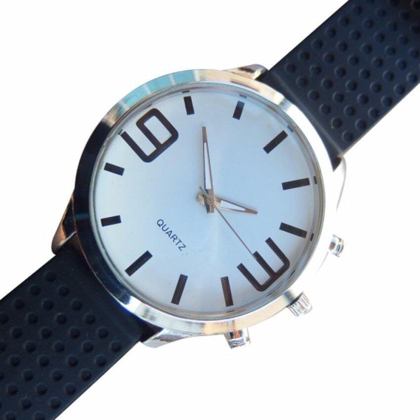 QUARTZ นาฬิกาข้อมือ นาฬิกาข้อมือแฟชั่น นาฬิกาผู้ชาย ผู้หญิง วัยรุ่น ทันสมัย ราคาถูก [Whi ...