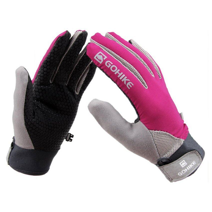 Rainbow Unisex Outdoor Sports Winter Soft Warm Climbing Ski Bicycle Motorcycle Fishing Warm Glove M(rose red)