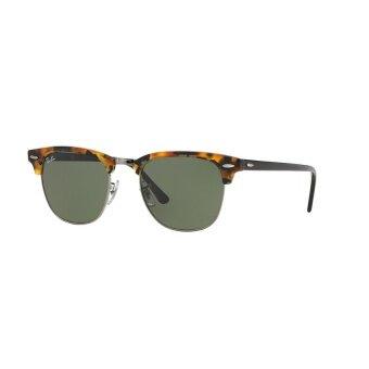 Ray-Ban แว่นกันแดด รุ่น Clubmaster RB3016 - Spotted Black Havana (1157) Size 51 Green