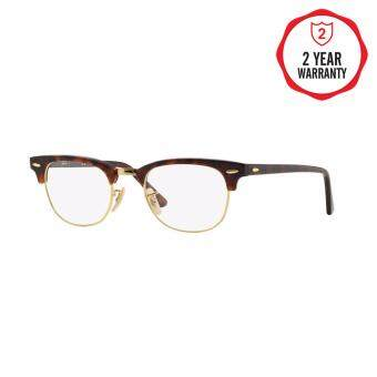 Ray-Ban แว่นสายตา รุ่น Clubmaster RX5154 - Red Havana (2372) Size 49 Demo Lens