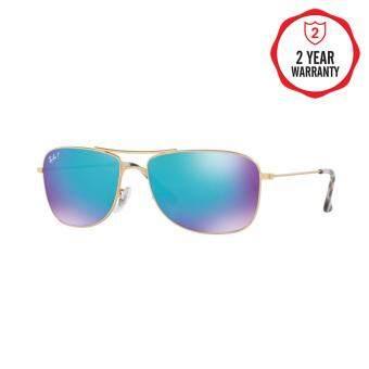 Ray-Ban แว่นกันแดด รุ่น - RB3543 - Shiny Silver (003/5J) Size 59 Grey Mirror Silver Polar