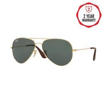 Ray-Ban แว่นกันแดด รุ่น - RB3558 - Gold (001/71) Size 58 Green