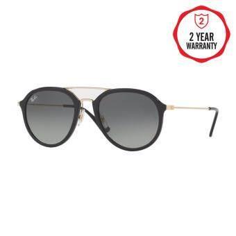 Ray-Ban แว่นกันแดด รุ่น - RB4253 - Black (601/71) Size 53 Grey Gradient