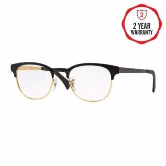 Ray-Ban แว่นสายตา รุ่น - RX6317 - Top Black On Matte Gold (2833) Size 51 Demo Lens